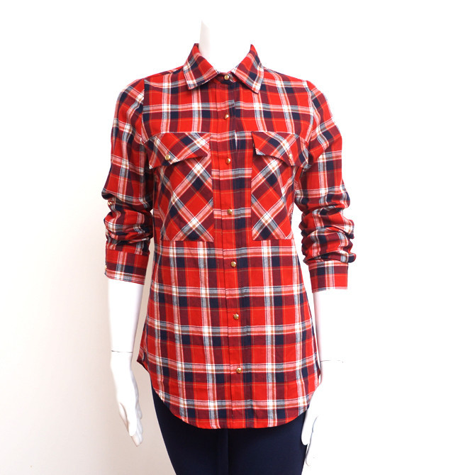 Saucy Plaid Button Up Red Ed. | Affordable Junior Clothing & Plus Sized Dresses | Shimmer