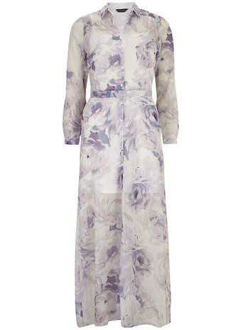 Floral shirt maxi dress - Dorothy Perkins