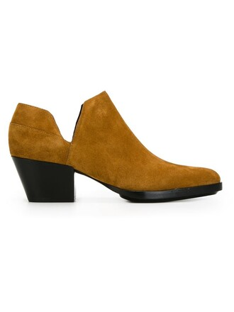 cut-out boots chelsea boots brown shoes