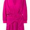 Balenciaga - v-neck uplifted dress - women - silk - 42, pink/purple, silk