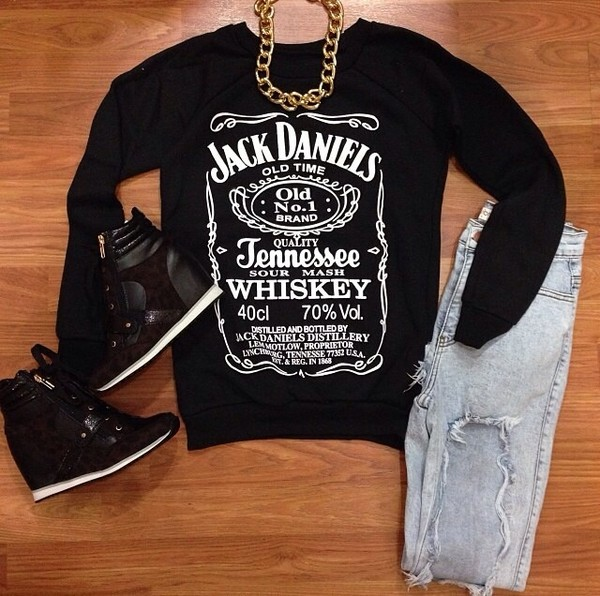 sweater jack daniels shirt jack daniel's black sweater