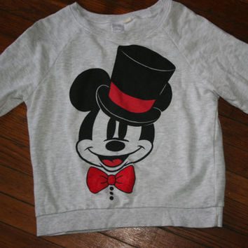 Womens Vintage Mickey Mouse Sweater/ Hipster Mickey Mouse pull over / Hipster Sweater Size Small on Wanelo