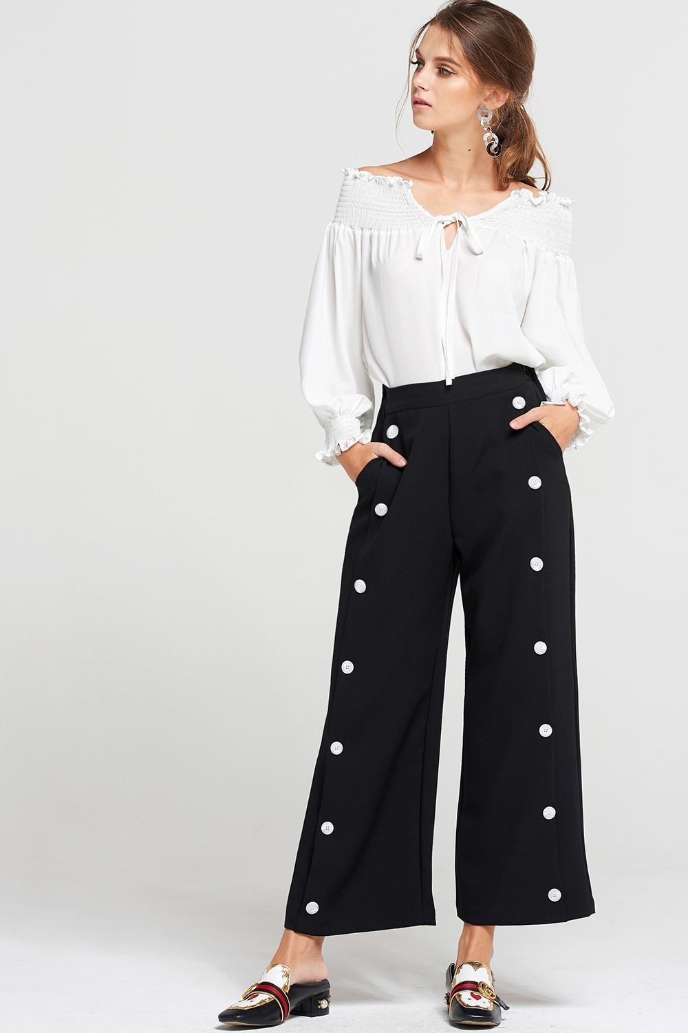 Estelle Front Button Pants Discover the latest fashion trends online at storets.com