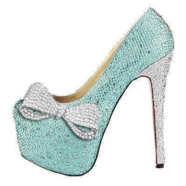 shoes mint bows cute shoes sparkly high heels mint heels