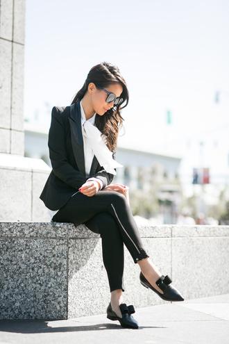 blouse jacket blogger sunglasses top wendy's lookbook