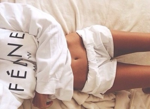 white cute tumblr feline sweater white sweater shorts shirt