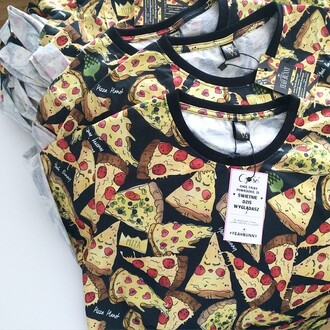 t-shirt yeah bunny pizza pizza porn food pizza print