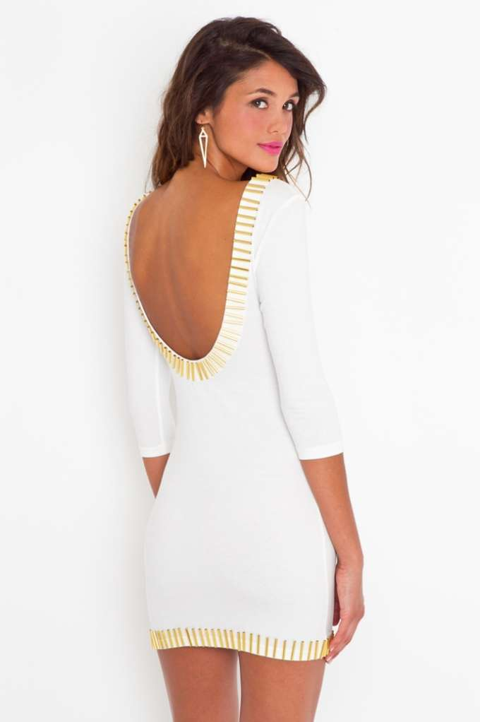 Gold Rush Dress in  Clothes Sale at Nasty Gal