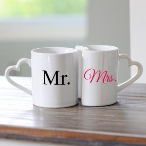 Mr. and Mrs. Coffee Mug Set : Amazon.com : Kitchen & Dining