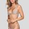 Spain mesh bikini top in clay/beach babe