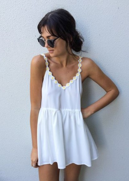 dress white summer spring romper summer dress white dress spring dress spring fashion summer fahsion