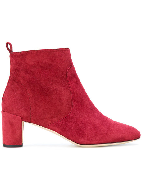 Repetto heel women ankle boots leather suede red shoes