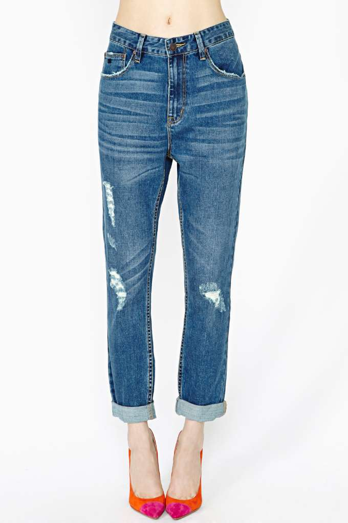 RES Denim Slacker Boyfriend Jeans in  Clothes at Nasty Gal