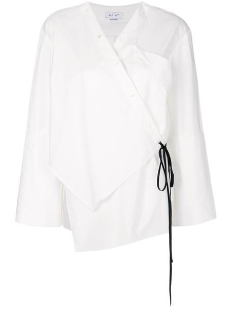 ACT N 1 shirt women white cotton top