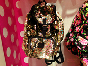 bag,backpack,sparkle,sparcly,gold,girl,cool