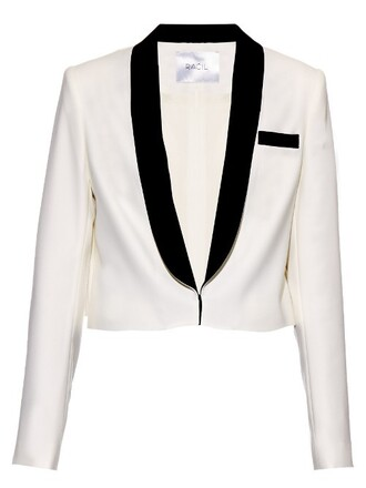 blazer white black jacket