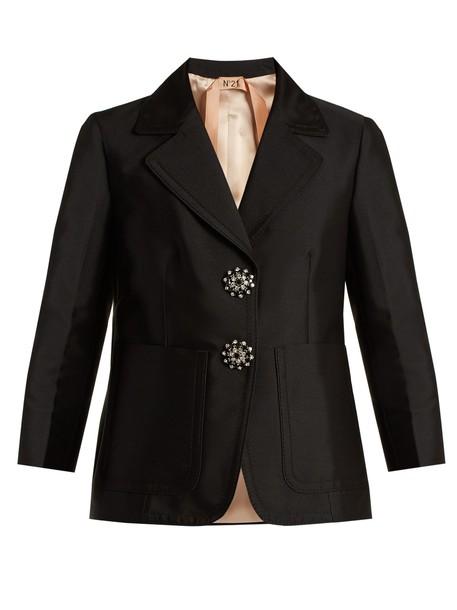 No. 21 jacket embellished satin black