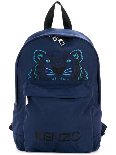 women tiger backpack blue bag