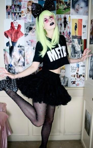 t-shirt edgy metal cross punk emo