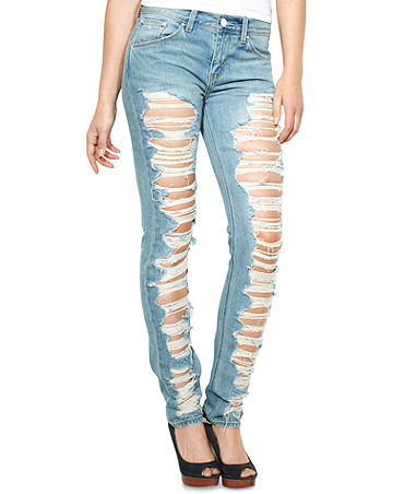Juniors Jeans, Skinny Destroyed - Juniors Jeans - Macy's