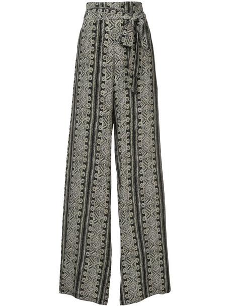 Sally LaPointe women black silk pants
