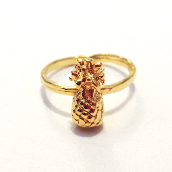 Mini Pineapple Gold Stacking Ring – tidepoollove