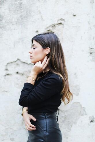 dulceida blogger jewels shirt skirt