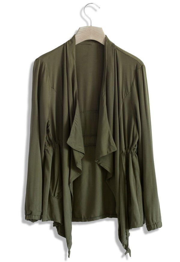 top chicwish olive green waterfall