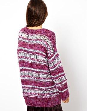 ASOS | ASOS Premium - Pull tricoté main en maille ajourée chez ASOS