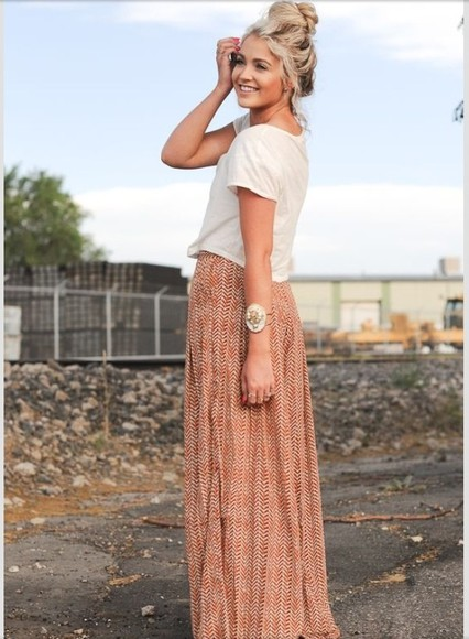 crop tops shirt maxi skirt