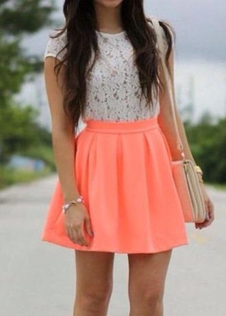 skirt colourful style dress bag