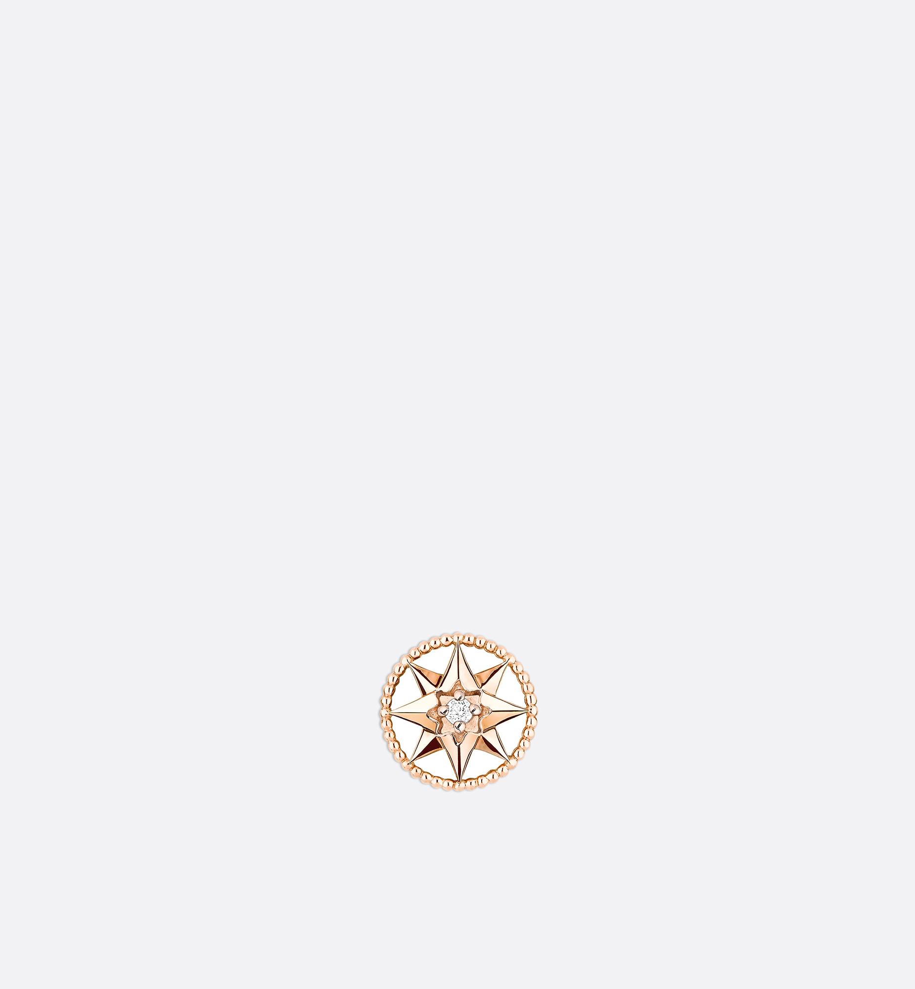 Rose Des Vents XS Earring, 18k Pink Gold And Diamond