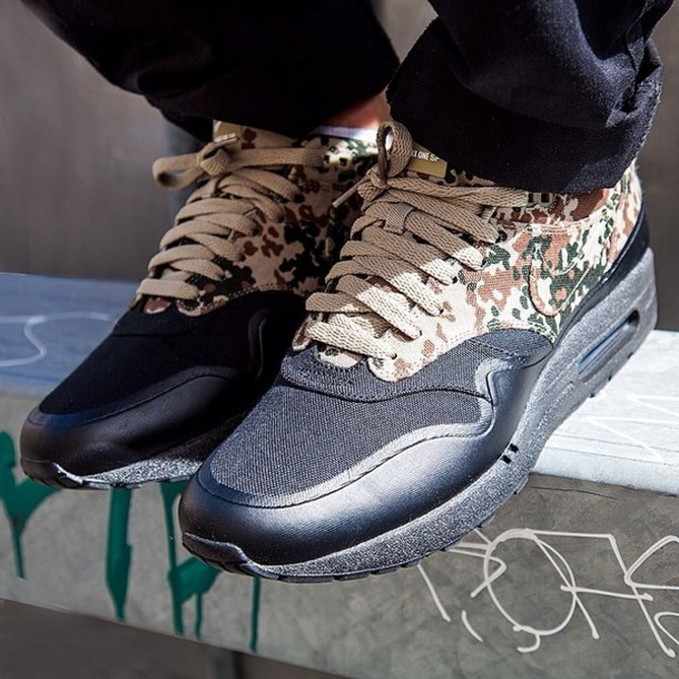 shoes air max one sp nike camouflage camouflage black