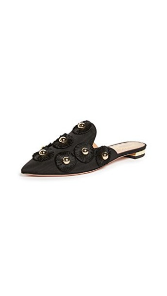 Aquazzura sunflower flats black shoes