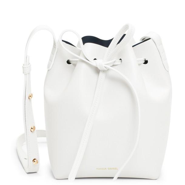 Mansur Gavriel Calf Mini Mini - White/Blu
