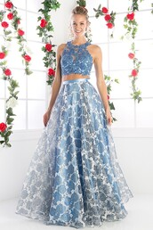 dress,perry blue,2 piece skirt set,2 piece prom dress,2 piece dress set,sky blue,prom gown,long prom dress,light blue prom dress