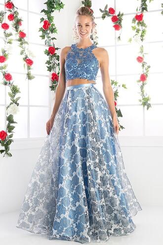 dress perry blue 2 piece skirt set 2 piece prom dress 2 piece dress set sky blue prom gown long prom dress light blue prom dress