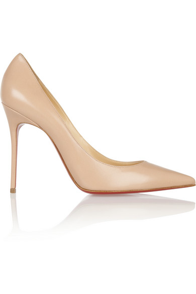 Christian Louboutin | Décolleté 100 leather pumps | NET-A-PORTER.COM