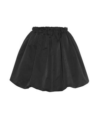 miniskirt satin black skirt