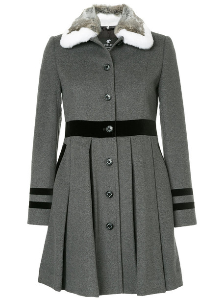 Loveless coat pleated women wool grey
