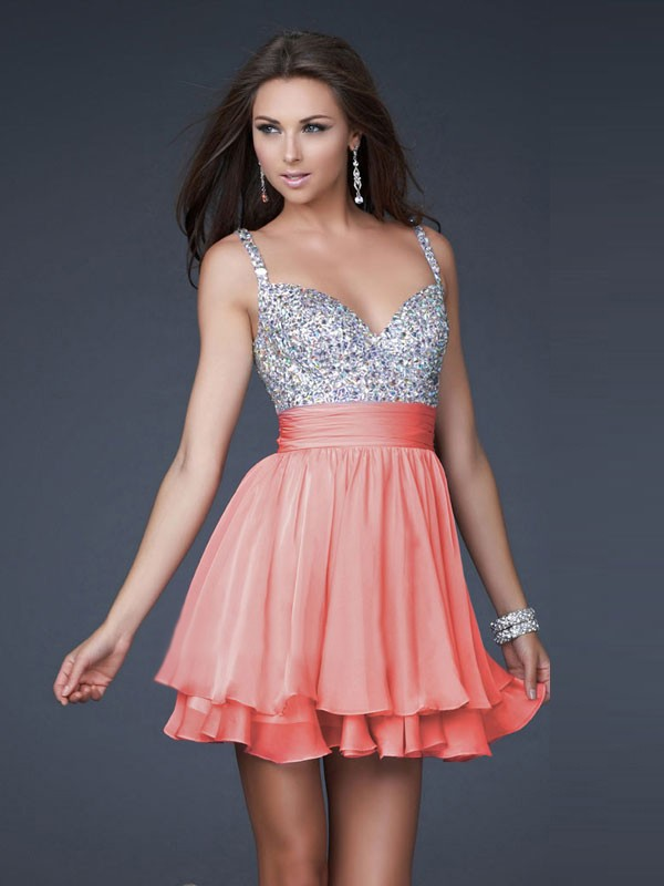 Buy 2013 A-line Absorbing aBest Selling Nice Princess V-neck Short Mini Chiffon Homecoming Dresses Online Cheap Prices