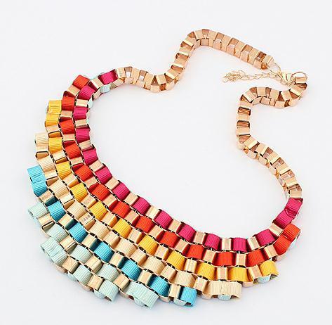 Wholesale Chunky Fashion Necklaces vintage exaggerated chunky bib