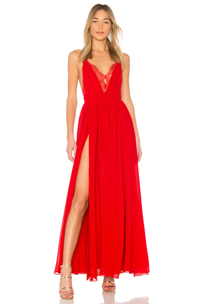 Michael Costello gown red dress