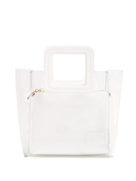 Staud - Mini Shirley Pvc And Leather Tote Bag - Womens - White