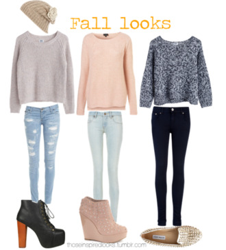 sweater jeans shoes oversized sweater fall sweater fall outfits winter outfits skinny jeans ripped jeans high heels ankle boots studded shoes flats wedges etsy pants hat winter sweater cute sweaters blouse grey peach beanie light blue knitted sweater platform lace up boots clothes shirt nail polish