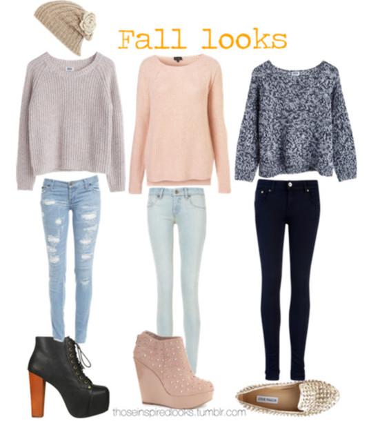 sweater oversized sweater fall sweater fall outfits winter outfits jeans skinny jeans ripped jeans high heels high heels ankle boots studded shoes flats wedges etsy pants shoes hat winter sweater cute sweaters blouse grey peach fall outfits light blue knitted sweater platform lace up boots heart nude nude wedges fashion heels boots sweater