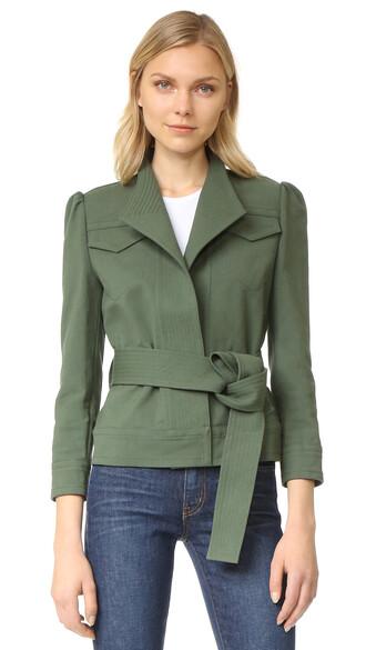 jacket green army green