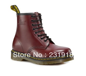 Original dr . martins martens 1460 boot cherry red smooth women's boots p11822600 free shipping