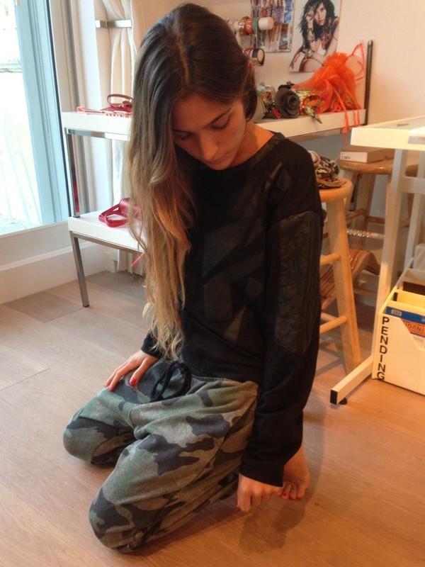 sweater lush black army pants sweatpants pants