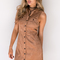 Outback dunes cordoroy camel dress - black swallow boutique